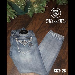 Miss Me Je5755c2 cropped women jeans size 26